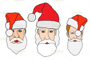 Set of santa claus