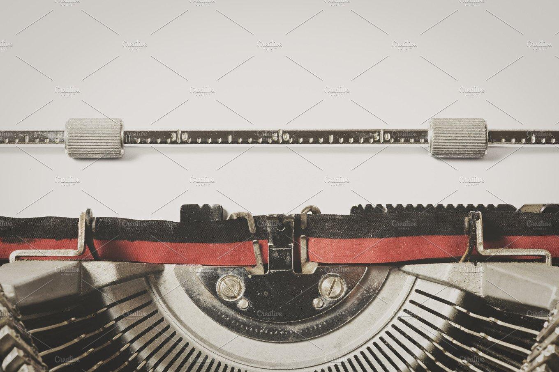 Detail Of Vintage Typewriter Whit Sheet Of Paper