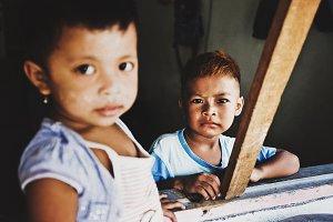 portrait of Asian child, Thailand