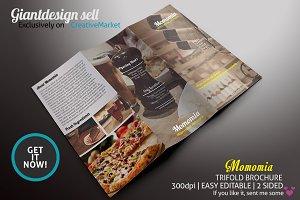 Momomia Restaurant Trifold Brochure