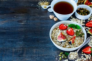 Healthy breakfast set