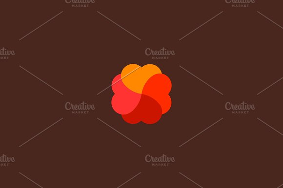 four hearts swirl logo logo templates creative market