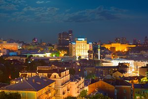 Kiev at night. Ukraine