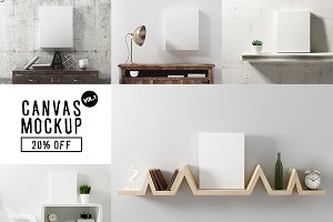 Canvas Mockup Vol 1