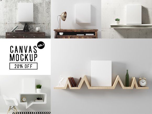 Download Canvas Mockup Vol 1