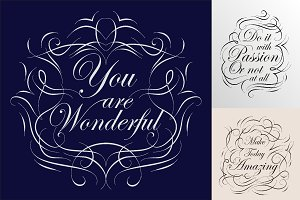 Quote calligraphic postersset