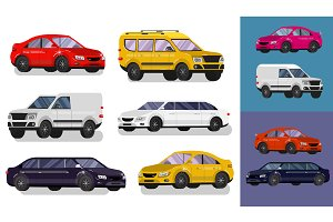 Car illustration set