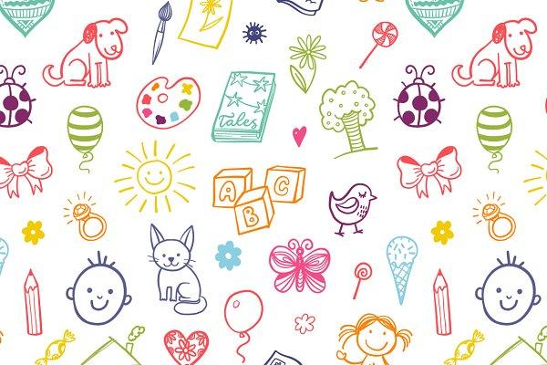 15 kids patterns set