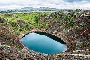 Kerid volcanic crater lake