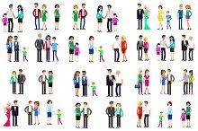 Couple & family characters bundle