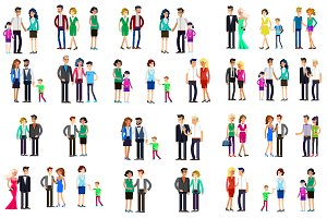 Couple & family characters bundle