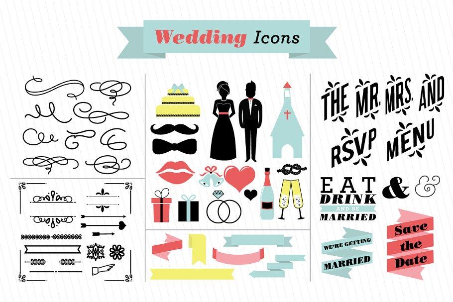 Wedding clipart bride clip art groom