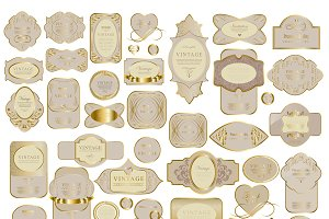 Vintage ribbons & labels set