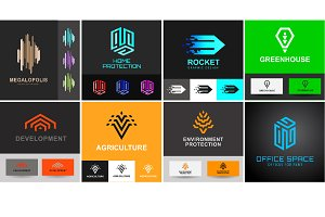 Logo design templates set