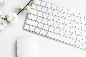 White Styled Desk // Stock Photo