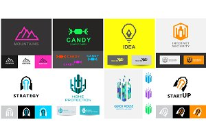 Business logo templates set 2