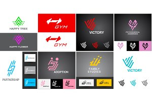 Business logo templates set 4