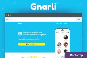 Gnarli – App Landing Page –Bootstrap