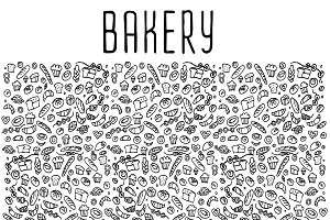 Bakery hand drawn icons