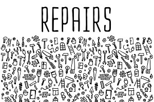 Repairs hand drawn icons