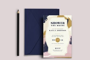 Abstract Bridal Shower Invitation