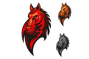 Powerful stallion horse mascot