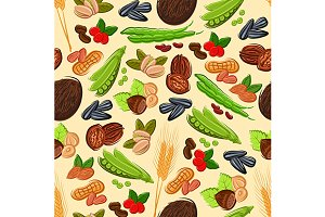Nut, bean, seed and cereal pattern