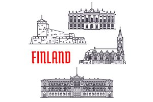 Travel landmarks of Finland