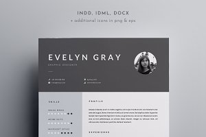 3 page resume template indd docx