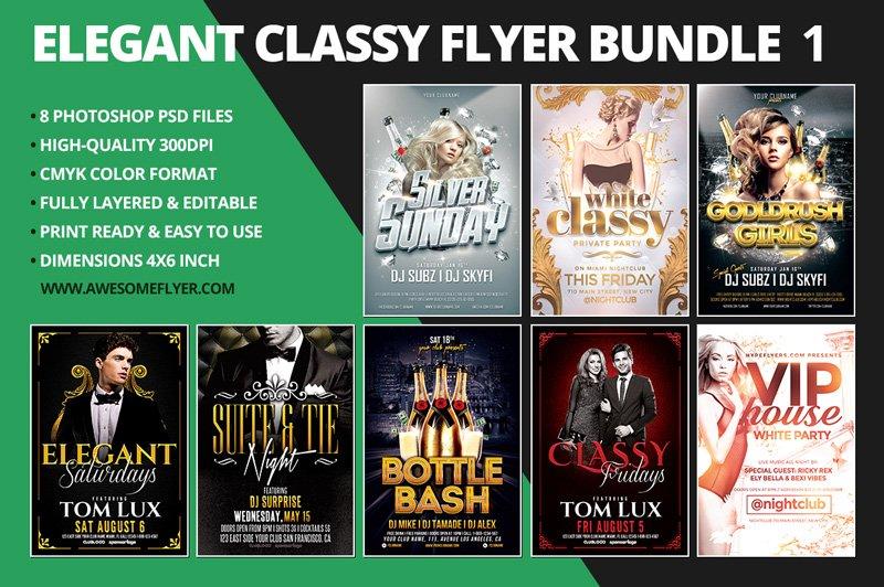 Elegant Classy Flyer Template Bundle Flyer Templates Creative Market