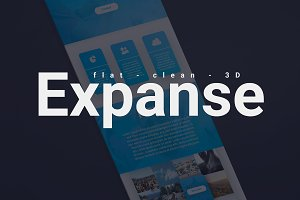Expanse Onepage PSD Template