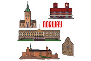 Historic sightseeings of Norway