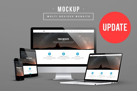 multi devices website mockup update product mockups creative market