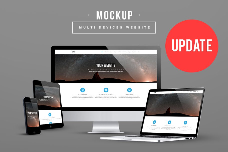 Multi Devices Website Mockup Update Creative Mobile Web