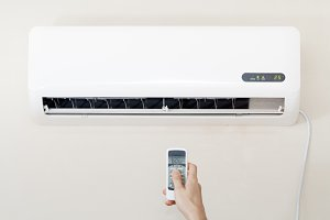 Air conditioner wall remote hand