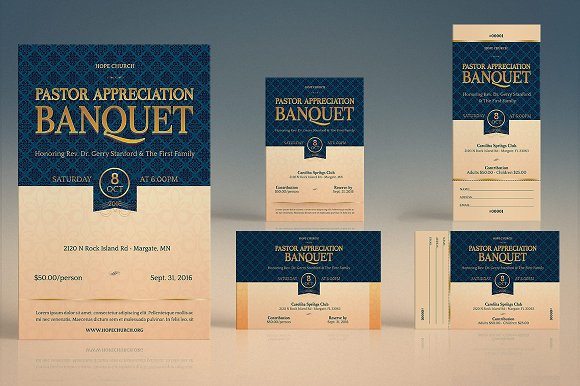 pastor appreciation template kit invitation templates creative
