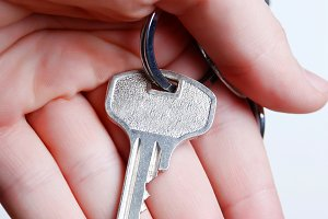 Key from house in hand