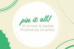 16 'Pin It All!' Photoshop Brushes