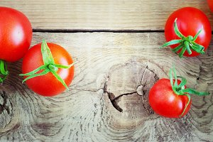 red mature tomatoes