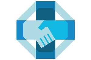 Handshake Forming Cross Octagon