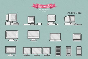 Flat Line Computers Set