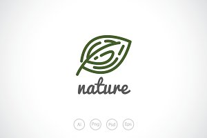 A Lonely Leaf Logo Template