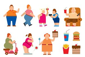 Fat people vector