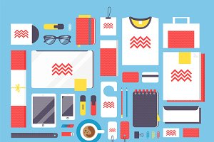 Flat style mockup design vector