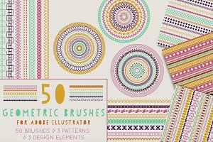 Geometric Pattern Brushes + EXTRAS