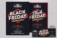 Black Friday Sale Flyer & FB Cover