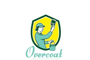 Overcoat House Painting Logo