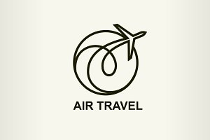 Aviation logo, air travel