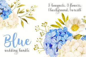 Blue-white wedding bindle