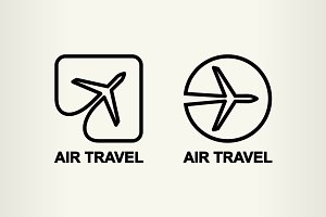 Aviation logos, air travel